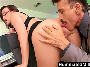 HumiliatedMilfs Jennifer milky leaned Over