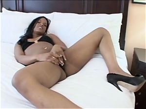 black honey gets one massive pecker shoved right into her pinkish fuck hole