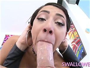 drank Valentina pleasure buttons face pulverized by a phat pink cigar