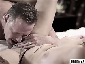 pure TABOO 18yo Ashley Sins Against mommy to satisfy father