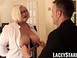LACEYSTARR - enslaved GILF backside plunged by Pascal milky