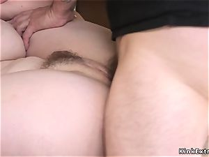 unshaved big-titted sandy-haired ball-sac deep assfuck pulverized