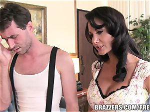 Brazzers - Ava Addams - two greedy gullets on His fuckpole
