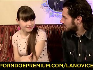 LA new-cummer - sizzling French nubile first-timer jammed doggy style