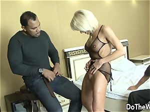 milf wifey takes black spunk-pump in all fuck holes