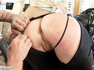 ripped trousers and ginormous buttfuck inserting