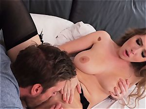 Lena Paul gets a steaming fucking after getting caught