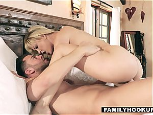 FamilyHookups - hot ash-blonde Stepmom bangs Her Stepson