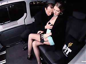 boinked IN TRAFFIC - magnificent Russian lady super-hot car pummel
