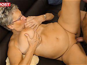 German grandmother luvs pulverizing her Neighbor #LETSDOEIT