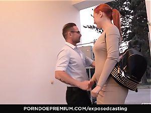 unveiled casting - diminutive Russian redhead busts rigid