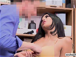 luxurious Shoplifter Sophia Leone seduce LP into powerful fuck-fest