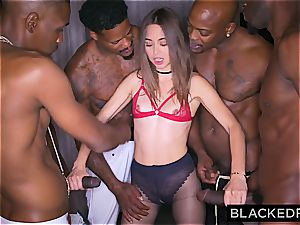 Riley Reid gets all her fuck-holes rammed by BBCs in a group sex vignette