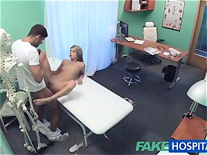 FakeHospital timid cute Russian cured by man sausage