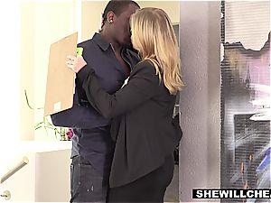 wifey Britney Amber tears up legendary football players big black cock