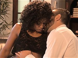 stunning Misty Stone passionate couch lovemaking