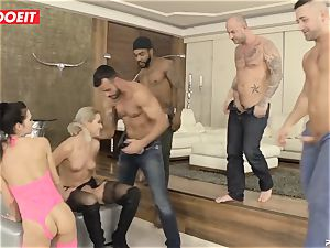 dual intrusion group orgy with nasty bitches