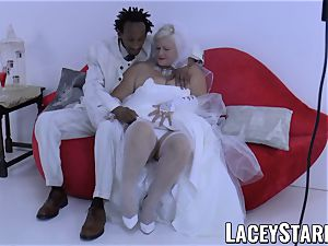 LACEYSTARR - grandmother bride fed with spunk after pounding