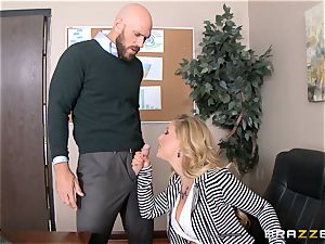 milf chief Cherie Deville gets shafted by a yam-sized dicked employee