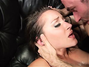 Dani Daniels gets blasted with giant penis cream