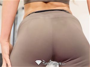 PUREMATURE Sexual instructing gym ravage with milf