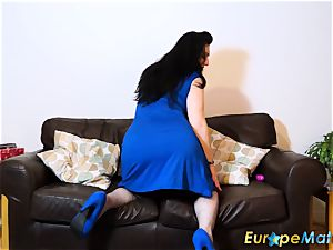 EuropeMaturE huge-chested dame super-sexy lingerie and fun