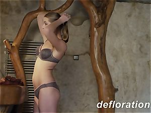 super-steamy light-haired Churikova luving getting off