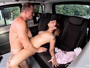 screwed IN TRAFFIC - fuck-a-thon in the car with Czech hottie