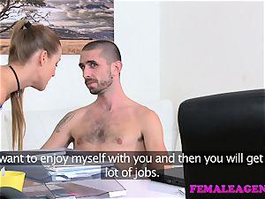 FemaleAgent humungous pop-shot glazes agents puss