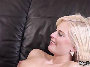 platinum-blonde school bus crazy platinum-blonde wants to attempt someone lil bit more experienced