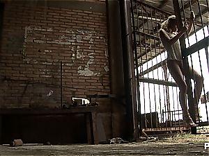 platinum-blonde honey behind bars