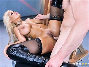 massive butt platinum-blonde Bridgette B inserted in her rear end
