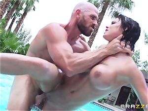 big-chested Peta Jensen - dirty fuck-fest by the pool