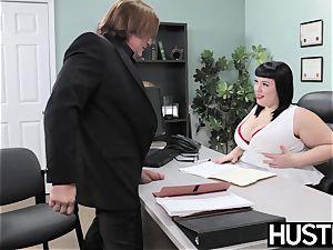 Angelic plus-size Alexxis Allure fed spunk after schlong hammering