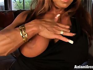 ginormous titted DD finger plows herself