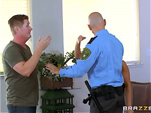 Abigail Mac gets shafted by a super-steamy cop in uniform