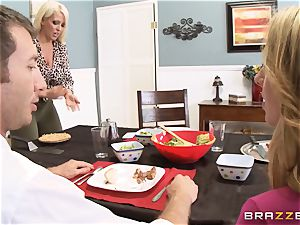 dirty daughter-in-law Brooke Wylde pounding her stepmoms dude