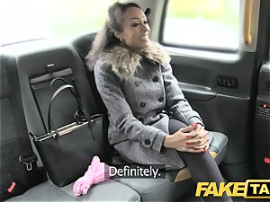 fake taxi sumptuous young ebony female in gimp outfit