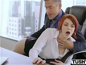 TUSHY Bree Daniels very first anal hump scene