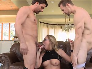 Carter Cruise dual poked by 2 ginormous schlongs