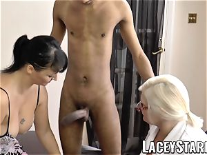 LACEYSTARR - Mature doctor poked by bi-racial duo