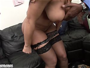 interracial pornography with mature sweetie Lisa Ann with meaty boobies