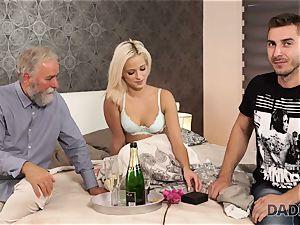 DADDY4K. nymph rails elder gent s joystick in father porn vid