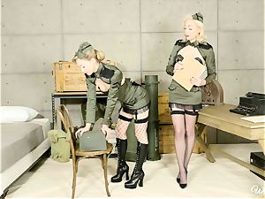 Lily Labeau and Ivy Wolfe army honies fuckbox play