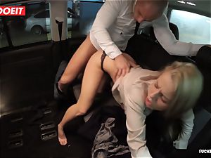 LETSDOEIT - torrid ash-blonde seduces and plumbs Uber Driver