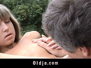 older anal invasion injection for lil' tight caboose