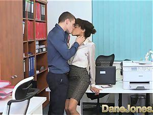 Dane Jones splendid nubile dark-hued office doll