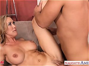 light-haired Brandi enjoy has fine bra-stuffers and luvs meaty wood