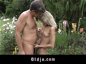 Gina Gerson gets anal from an older boy