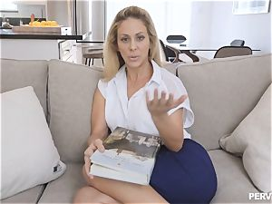 milf Cherie Deville nearly caught by spouse nailing stepson